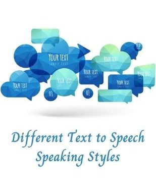 different text to speech styles